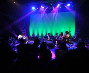 Dewa Budjana Stringed Quartet Vibraphone on Jazz Buzz Salihara 2018