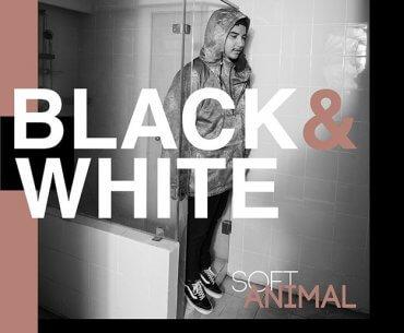 SoftAnimal Elephant Kind Drummer Black & White Single