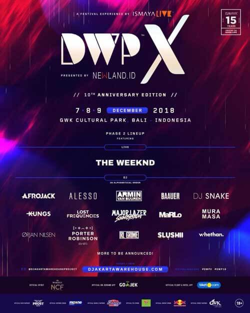 DWPX 2018 Phase 2 Line Up
