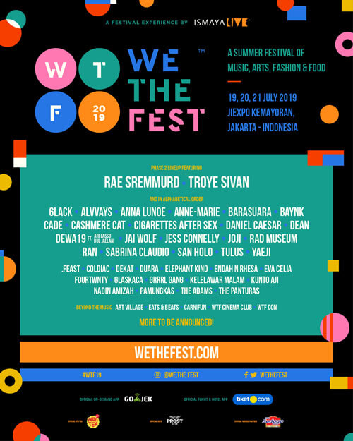 We The Fest 2019 2nd Line Up Announcement Joji