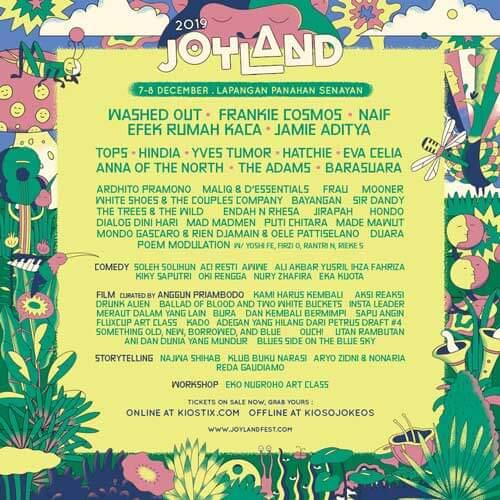 JOYLAND Festival 2019 Complete Line Up