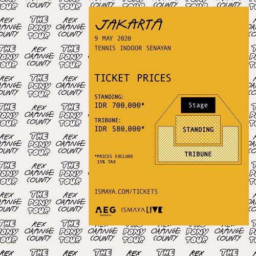 Rex Orange County Pony Jakarta Tour Show